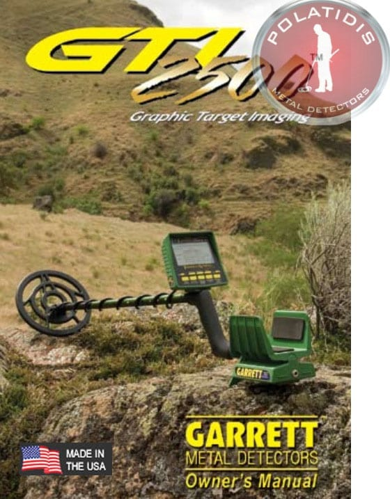 garrett gti2500 pro package οδηγίες αγγλικά