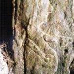 σημάδι έγκυος γυναίκα σε βράχο