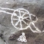 σημάδι με κανόνι σε βράχο