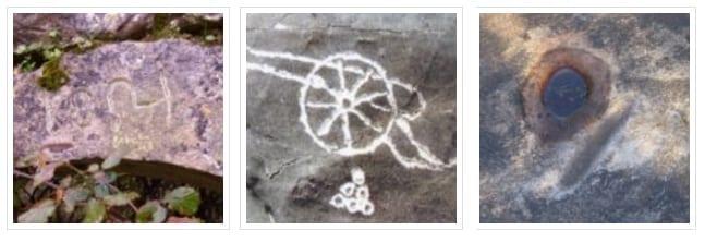 σημάδια σε βράχια σκαλιστά