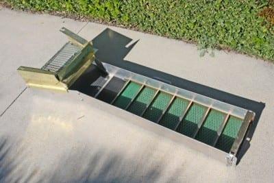 φυσικός χρυσός sluice box