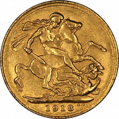 κάλπικη χρυσή λίρα αγγλίας 1918
