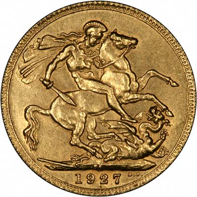 κάλπικη χρυσή λίρα αγγλίας 1927
