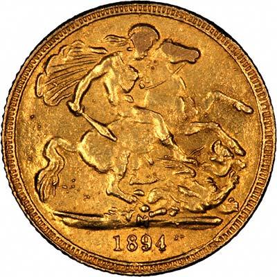 κάλπικη χρυσή λίρα αγγλίας 1894