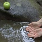 σημάδι με ψάρι χαραγμέμο πάνω σε πέτρα