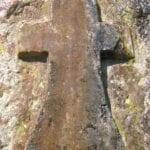 σημάδι με σταυρό σε βράχο