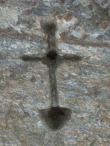 χαραγμένο σημάδι σταυρός