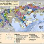 χάρτης με ορυκτό πλούτο