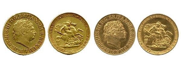 χρυσή λίρα αγγλίας 1817